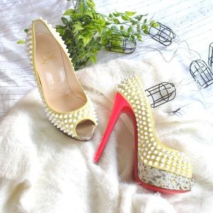 Christian louboutin lady peep spike heels/ pumps